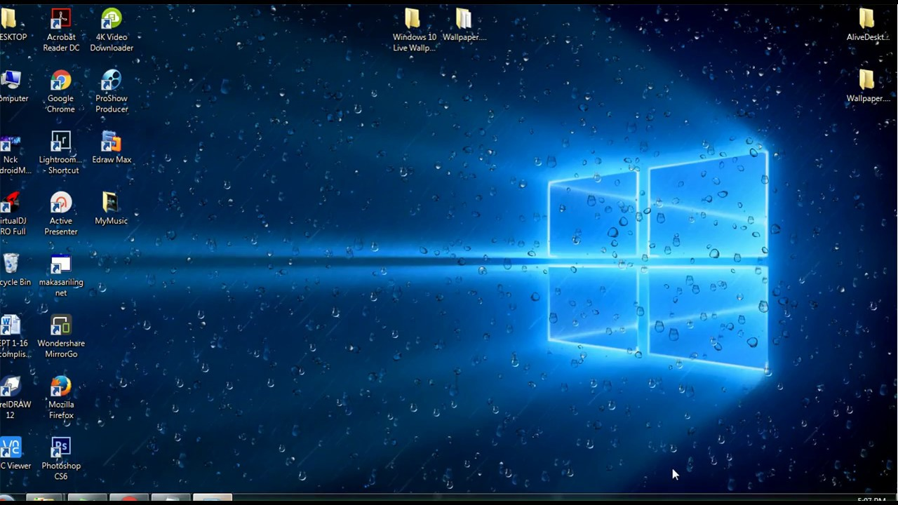 Windows 10 live wallpaper earth