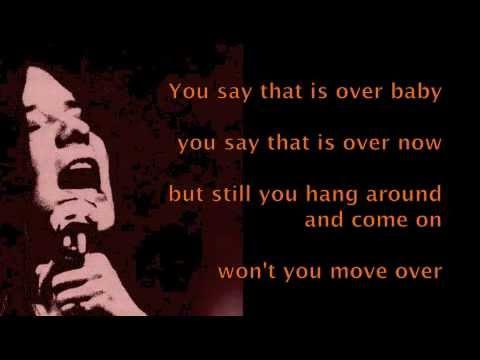 Janis joplin move over k pop lyrics song for Janis joplin mercedes benz lyrics
