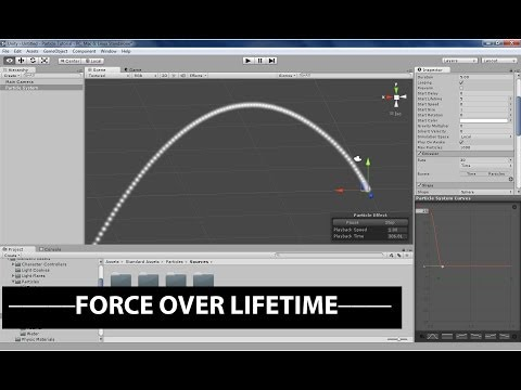 Unity's Shuriken Particle System: Force over Lifetime