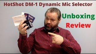 Unboxing Review HotShot DM-1 Dynamic Mic Selector Radial Engineering