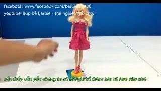 hướng dẫn cách làm giá đỡ  chân đế cho búp bê barbie , vlog 77
