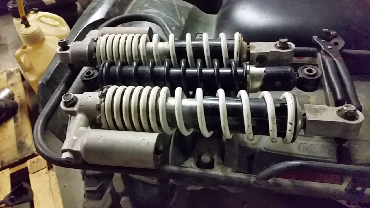 Changing Grizzly 700 yfz450 front and trx450r rear suspension shocks