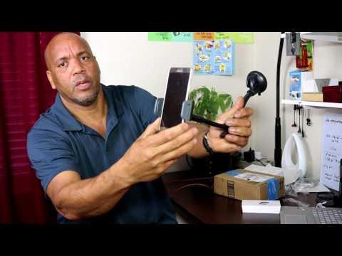 Universal Car Phone Mount Holder, Windshield Long Arm Cell Phone Holder