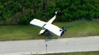 Plane crash interrupts police training exercise