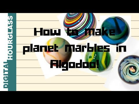 Algodoo - how to make planet marbles (and others)