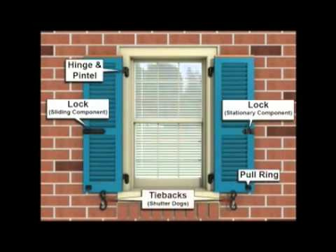 How to measure for exterior shutters youtube How to make exterior shutters