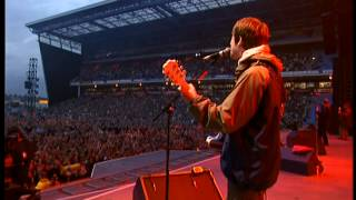 Oasis - Acquiesce HD (Live at Maine Road '96, Union Jack Guitar Noel)