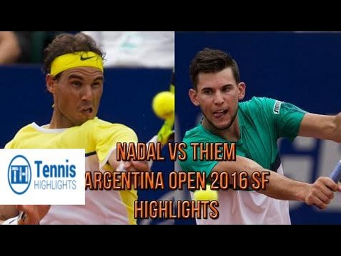 ♦Tennis Highlights♦ Rafael Nadal Vs Dominic Thiem - Argentina Open 2016 SF (Highlights HD)