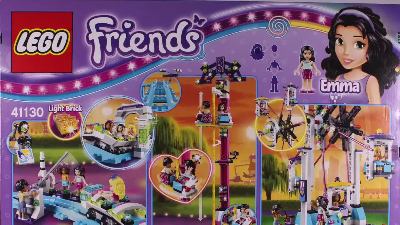 Lego Friends Klocki Kolejka Górska W Parku Rozrywki 41130 Budujemy