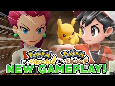 POKEMON LET'S GO PIKACHU & LET'S GO EEVEE NEW GAMEPLAY! MT MOON & TEAM ROCKET BATTLE!
