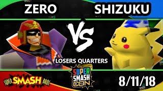 SSC 2018 SSB - Zero (Captain Falcon) Vs. Shizuku (Pikachu) - Smash 64 Losers Quarters