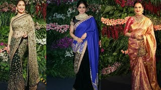 Madhuri Dixit , Sridevi  & Rekha Grand Entry At Virat And Anushka's Reception