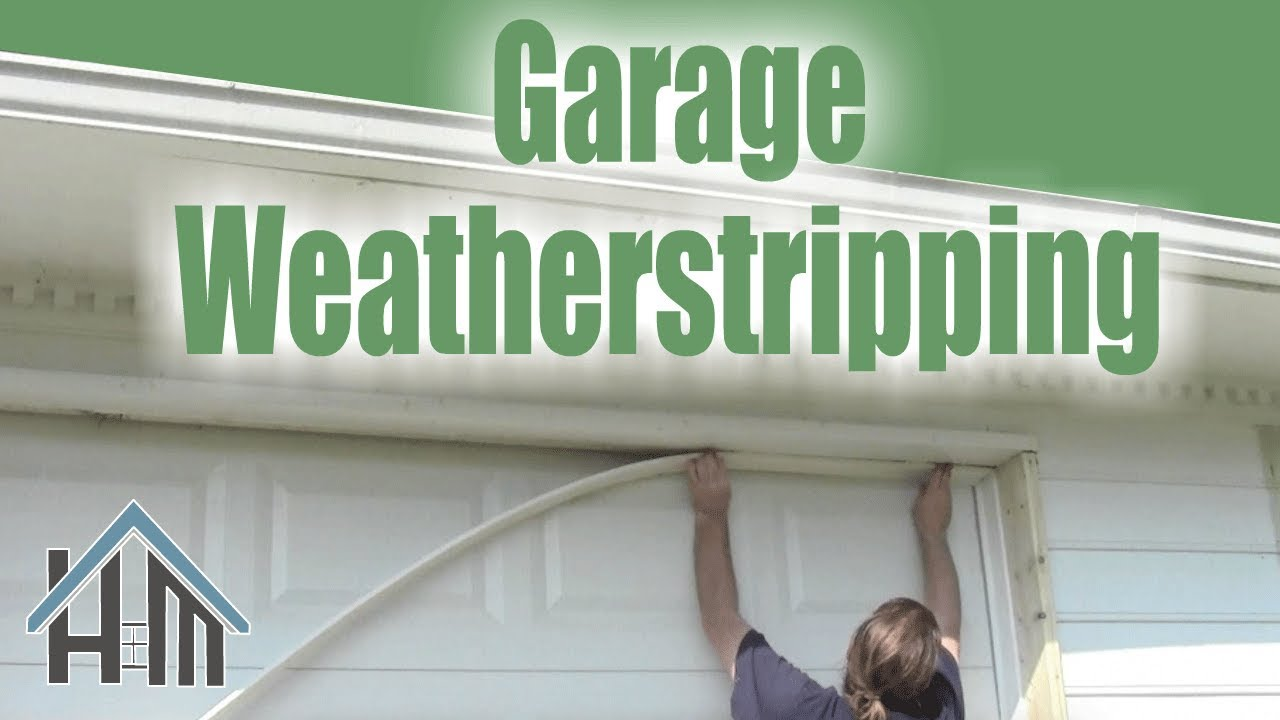 How To Install Replace Garage Door Weatherstripping Easy