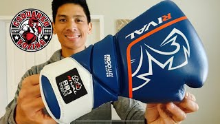 Guantes de boxeo Rival RS1 Ultra Sparring 2.0 Gold Boxing Striking Training