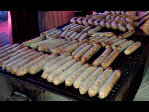 Grilled Hot Dog Really Hot for Oktoberfest Cambodia Event Party | Hotel Cambodiana Party 2014