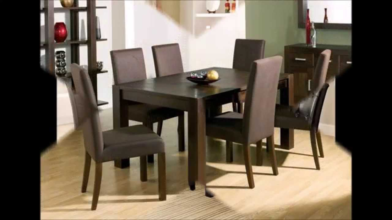 Dark Wood Dining Room Chairs art furniture intrigue rectangular dining table dark wood with maple stringer inlay hayneedle Elegant And Classy Dining Room Furniture Youtube