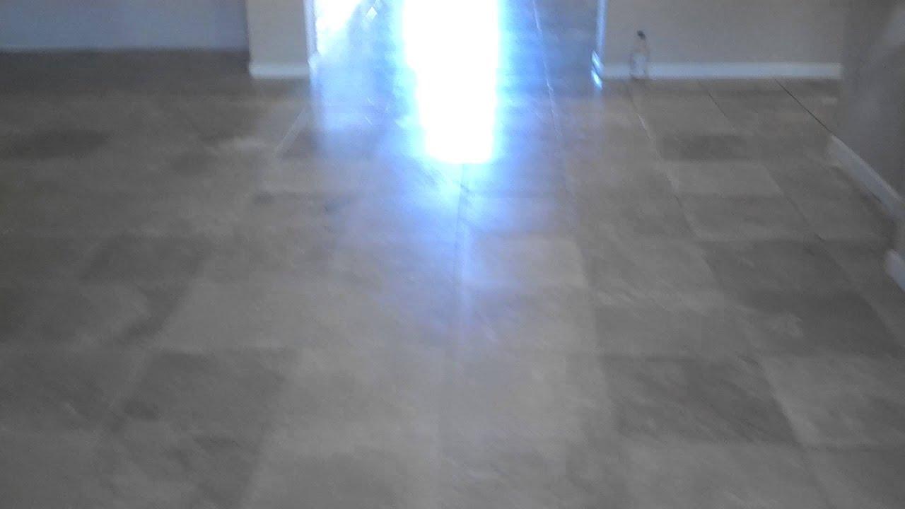 Travertine holes epoxy filled in Gilbert AZ - YouTube