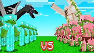 Building A MOB ARMY To FIGHT My FRIENDS! (Minecraft)