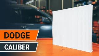 Comment changer Filtre climatisation DODGE CALIBER - video gratuit en ligne