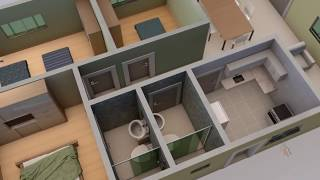 House plan in 3D