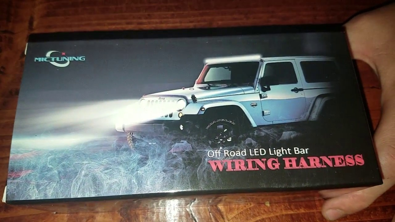 unboxing mictuning mic b1002 led light bar wiring harness 30 amp [ 1280 x 720 Pixel ]