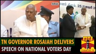 Tamil Nadu Governor Rosaiah Delivers Speech on National Voters Day