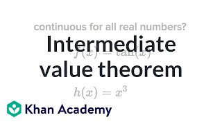 Intermediate value theorem | Existence theorems | AP Calculus AB | Khan Academy