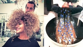 Amazing Hair Transformations Compilation 2017   New Hairstyles by Mounir