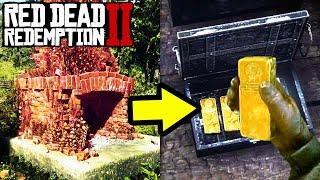 *SECRET* GOLD STASH AND HIDDEN TREASURES in Red Dead Redemption 2! Easy Money Tips RDR2!