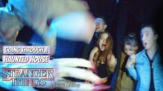 Download Going Through The Stranger Things Haunted House in VR 180 | Madelaine Petsch Mp3 and Videos