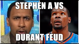 """COMPLETE Stephen A Smith vs Kevin Durant FEUD """"You don't want to make an enemy out of me"""""""