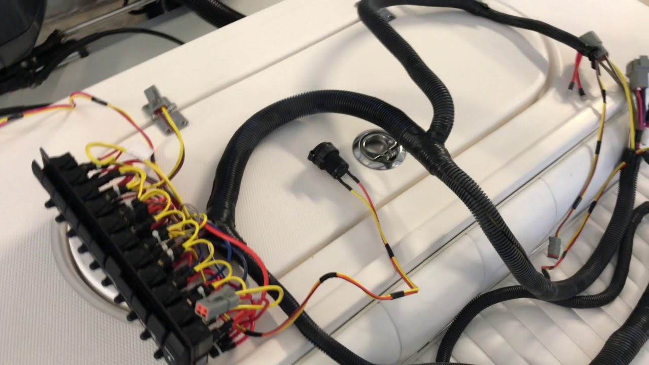 Installing A New Switch Panel And Wire Harness In Regulator Center Wiring Boat Console