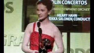 Hilary Hahn Wins Grammy and Gives Speech