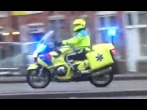 A1/P1- Brandweer rijopleiding & Ambulance (-motor) met spoed in Den Haag