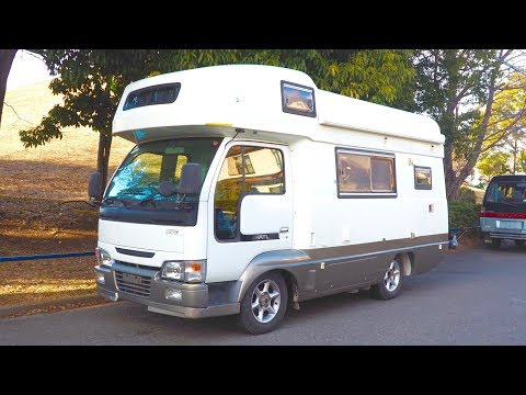 1999 Nissan Atlas Camping Car 5-speed 4WD Diesel (Canada Import) Japan Auction Purchase Review