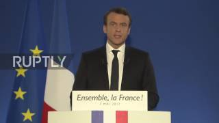 France: Macron gives victory speech in Paris after winning French elections
