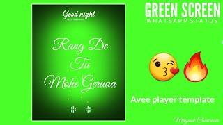 Rang De Tu Mohe Gerua || Green Screen whatsapp status video || No Copyright
