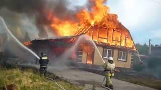 Сильный пожар в Кирилловке!