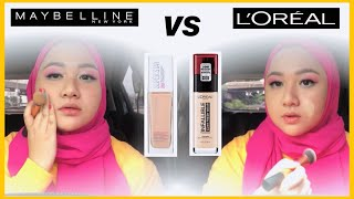 FOUNDATION BATTLE | Maybelline SuperStay 24H VS Loreal Infallible 24H Fresh Wear | DienDiana