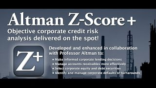 Analyze using Ticker Symbol from 3740 stocks & ADRs - Altman Z-Score+ iOS App