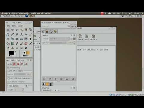 Linux History - Ubuntu 4.10 Live CD [Cursor bug fail]