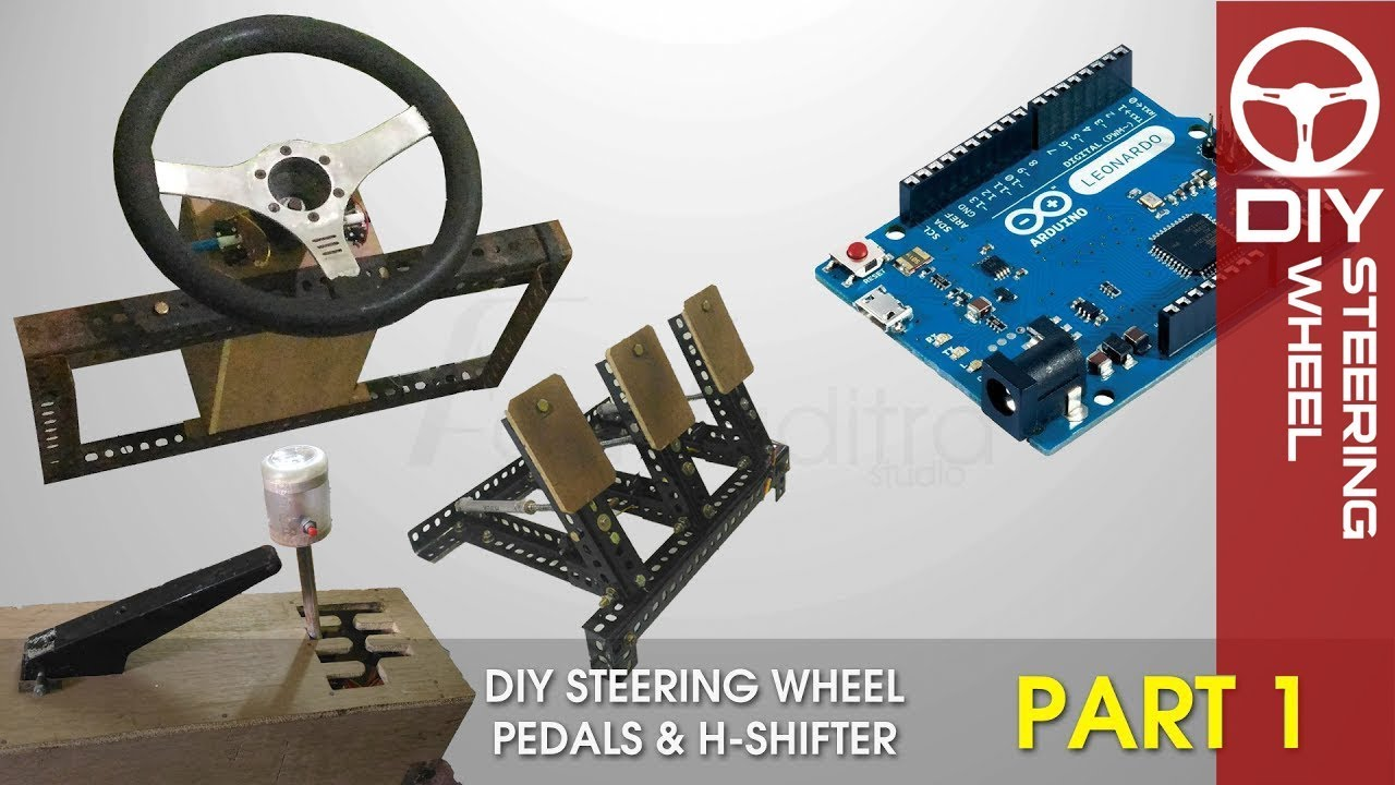 DIY Steering Wheel Pedals H-Shifter - Arduino | Part 1