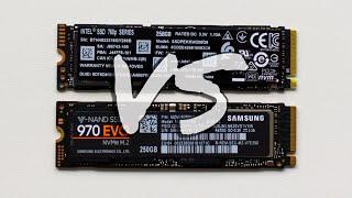 сравнительное тестирование Intel SSD 760p vs Samsung 970 EVO