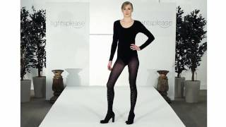 Tightsplease Pretty Polly Embellished Tights on Catwalk.