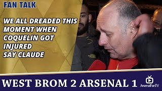 We All Dreaded This Moment When Coquelin Got Injured say Claude  | WBA 2 Arsenal 1