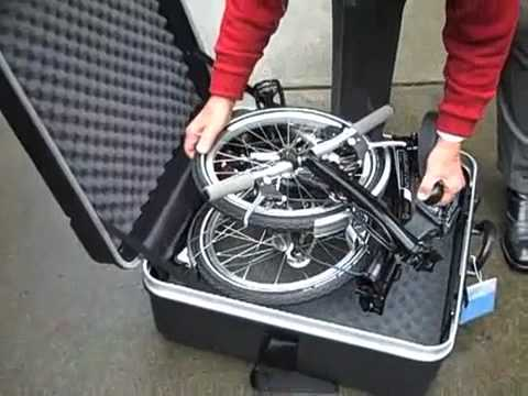 B W Hard Case For The Brompton Folding Bicycle Youtube