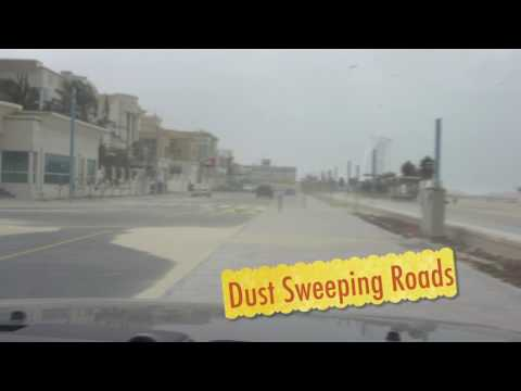 DUBAI : FEB 2017 High Winds- Dust Storms & Rough Seas