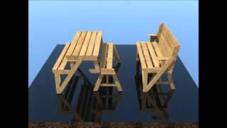 Как сделать стол трансформер своими руками(Как сделать стол трансформер из дерева для дачи своими руками - фото, видео, проект, чертежи. Более подробне..., 2016-11-26T13:52:35.000Z)