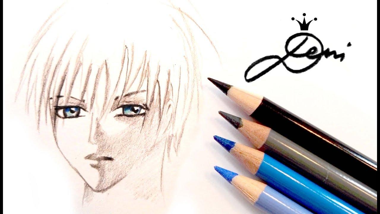 anime zeichnen boy: Manga Zero Zeichnen 👱🏻Anime Gesicht Junge Malen 🏻How To