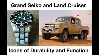 Grand Seiko SBGA231 titanium diver Toyota Land Cruiser titans of function